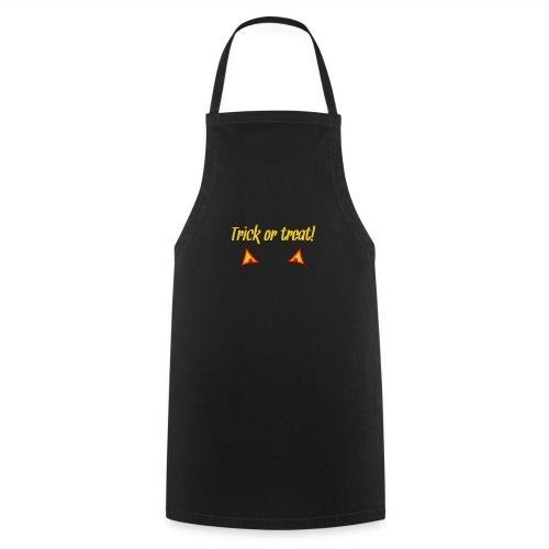 Halloween trick or treat mit Kürbisaugen - Kochschürze