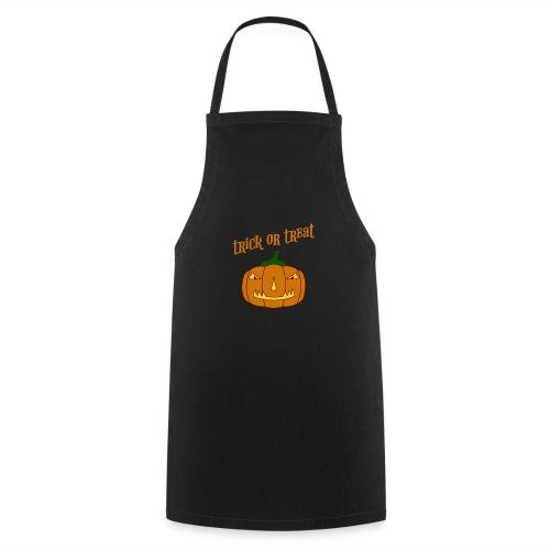 Halloween trick or treat und Kürbis - Kochschürze