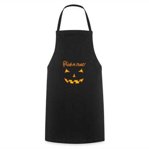 Halloween trick or treat und gruseliges Gesicht - Kochschürze