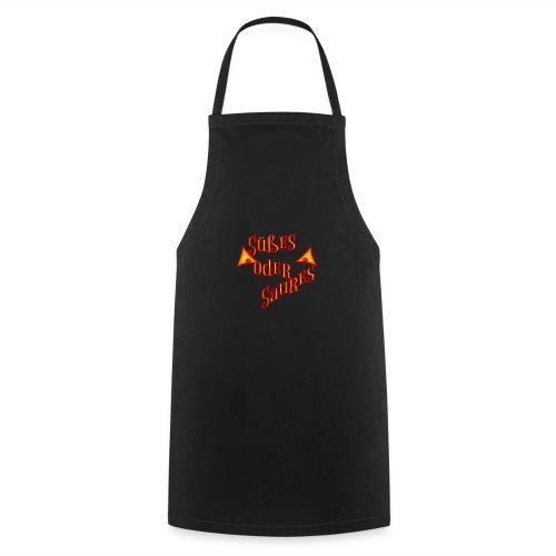 Halloween Süßes oder Saures mit bösen Augen - Kochschürze