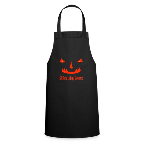 Halloween Süßes oder Saures mit Monstergesicht - Kochschürze