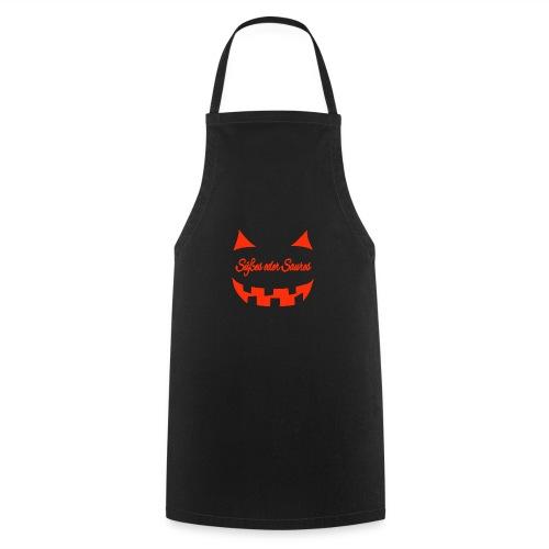 Halloween Süßes oder Saures mit Gruselgesicht - Kochschürze