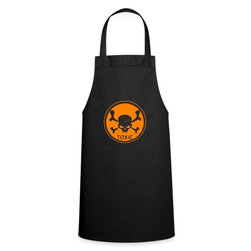 Skull Toxic Black & Orange - Tablier de cuisine