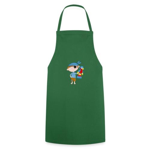 Kleiner Pirat mit Papagei - Kochschürze