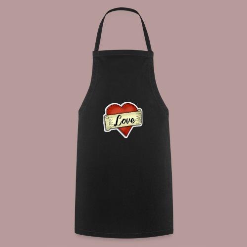 Love cœur tatouage - Tablier de cuisine