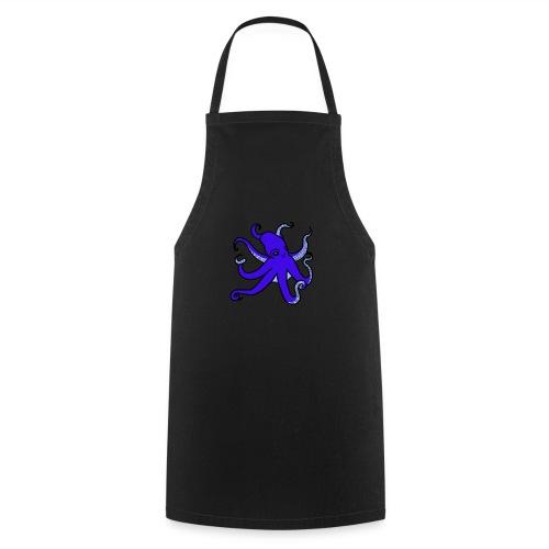 octopus blue - Kochschürze