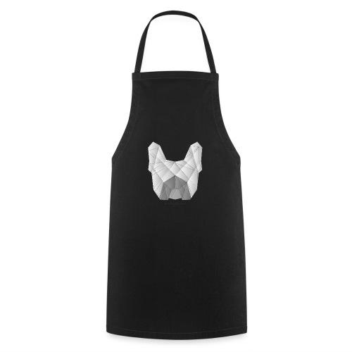 Geometric Frenchie white - Französische Bulldogge - Kochschürze
