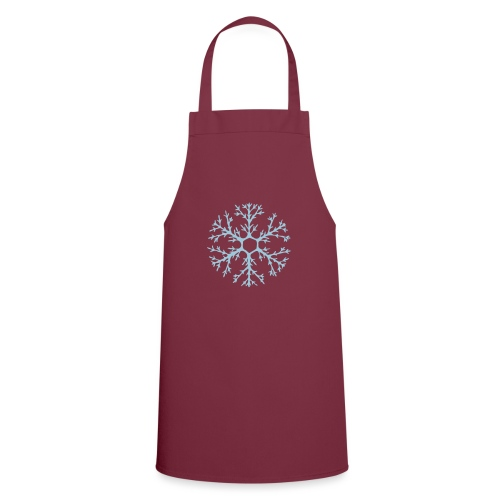 schneeflocke-hellblau-ver - Kochschürze