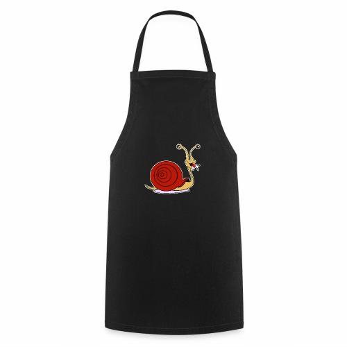 Escargot rigolo red version - Tablier de cuisine