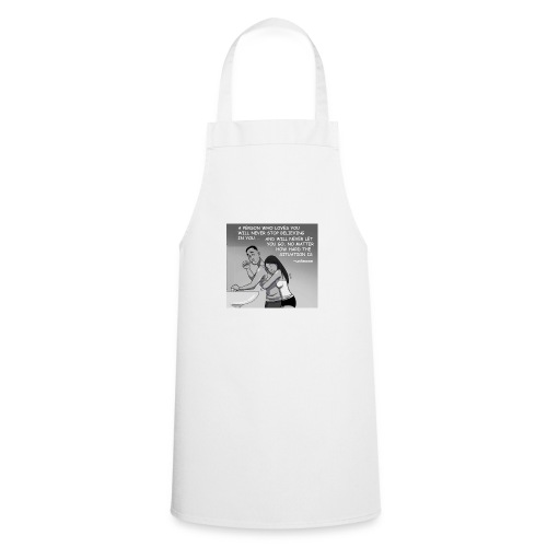 never give up - Cooking Apron