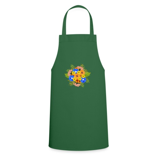 Blue Flower Arragement - Cooking Apron