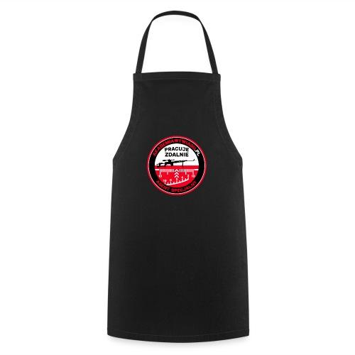 Emblemat Pracuje zdalnie - Akademia Wywiadu™ - Fartuch kuchenny