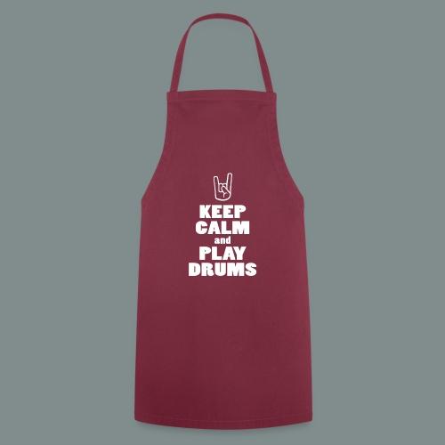 Keep calm and play drums - Tablier de cuisine
