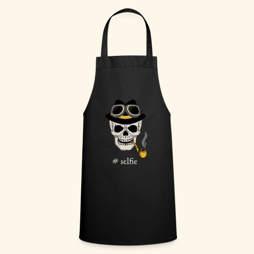 Skull with hat & Goggles. - Cooking Apron