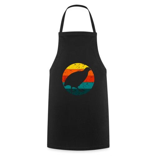 Retro Wachtel Geschenkidee Design Wachteln Logo - Kochschürze