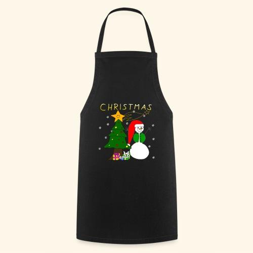 Christmas, Weihnachten, Schneemann, Weihnachtsbaum - Kochschürze