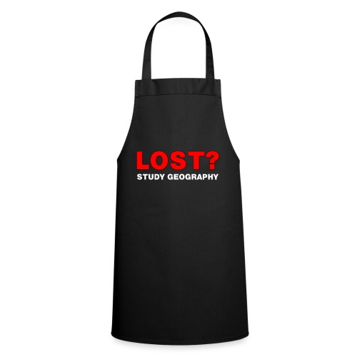 Lost? White Text - Cooking Apron
