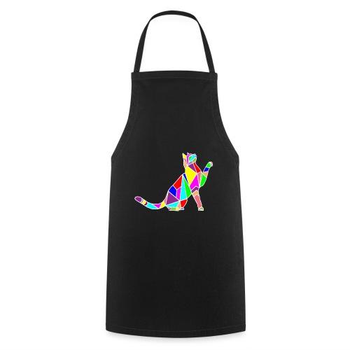 cat colors white pet animal art composicion - Grembiule da cucina