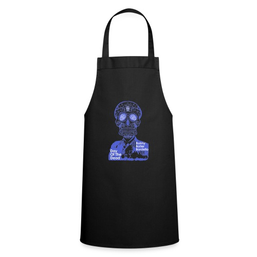 BBB-Day-Of-The-Dead-Blue - Cooking Apron