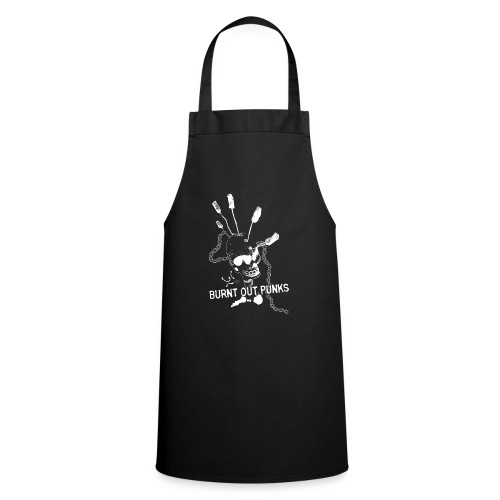 Burnt Out Punks Black Hoodie - Cooking Apron