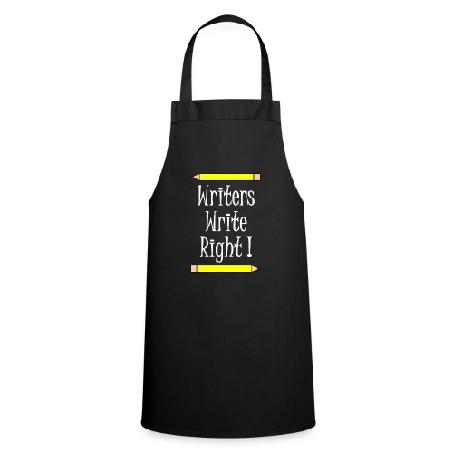 Writers Write Right White Text - Cooking Apron