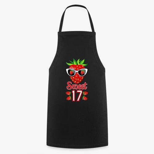 02 Sweet 17 Erdbeere Sonnenbrille Geburtstag - Kochschürze