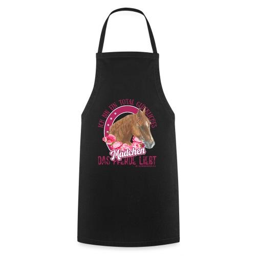 Glückliches Pferdemädchen - Kochschürze