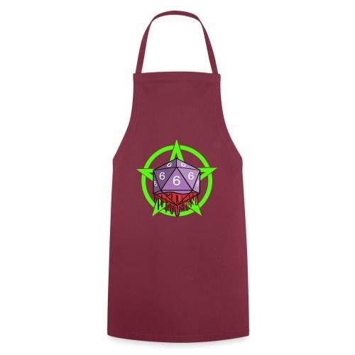 Würfel RPG Spiel Rollenspiele 666 mit Pentagramm - Kochschürze