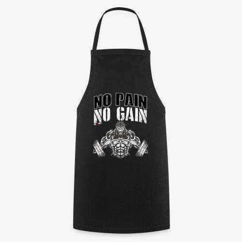 No pain no gain para entrenar en el gimnasio duro - Delantal de cocina