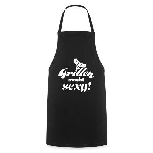Grillen Geschenk für Männer T-Shirt Schürze - Kochschürze