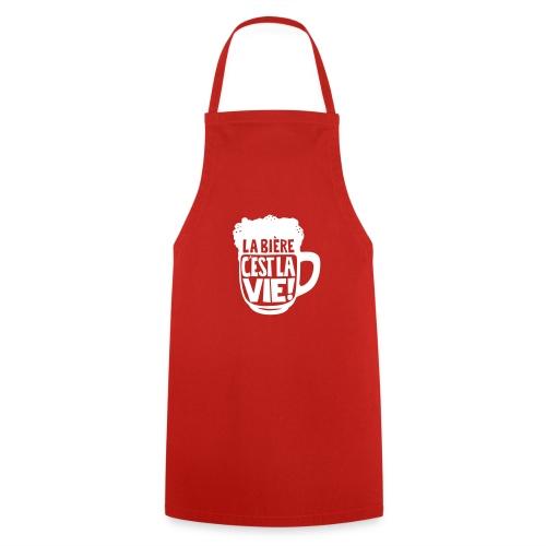 bière, la bière c'est la vie - Tablier de cuisine