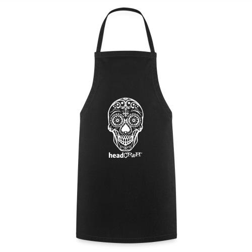 Skull & Logo white - Kochschürze