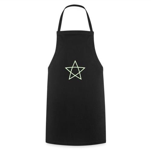 Pentagramm einfarbig - Kochschürze