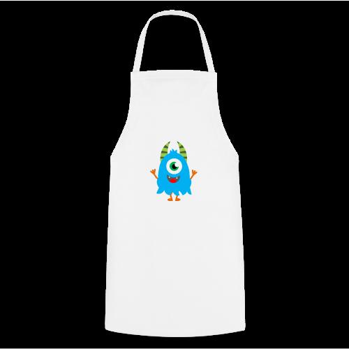 Lachendes Blaues Monster - Kochschürze