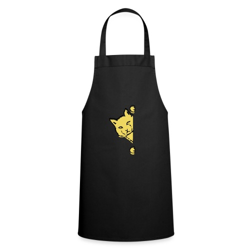 En gul katt - Förkläde
