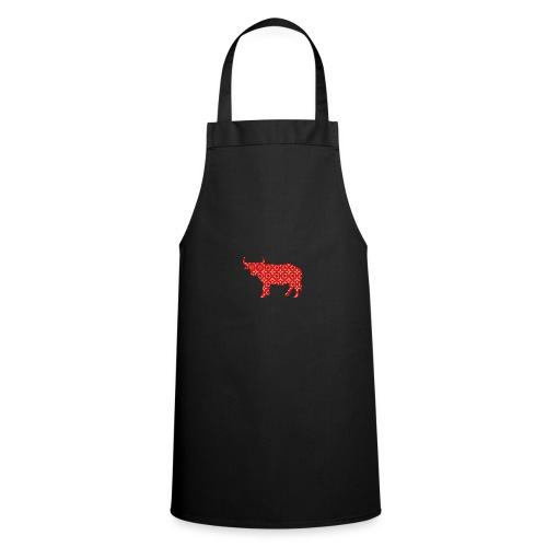 Roter Bulle - Kochschürze