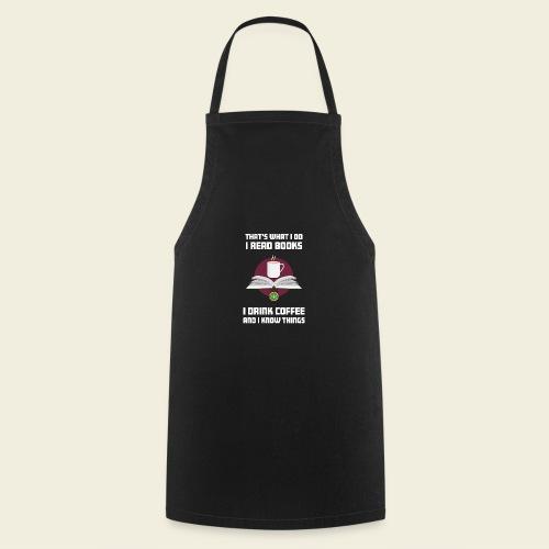 Buch und Kaffee, hell - Kochschürze