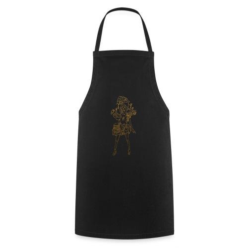 Fashion food lady in gold - Kochschürze