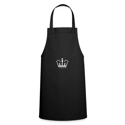 White Lovedesh Crown, Ethical Luxury - With Heart - Cooking Apron