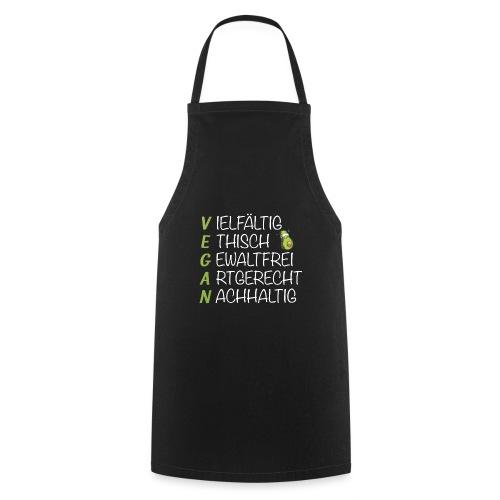 Vegan ist nachhaltig und vielfältige Ernährung - Kochschürze