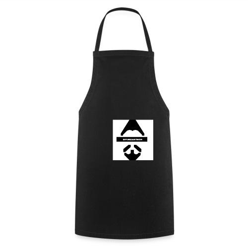 Biturzartmon Logo schwarz/weiss glatt - Kochschürze