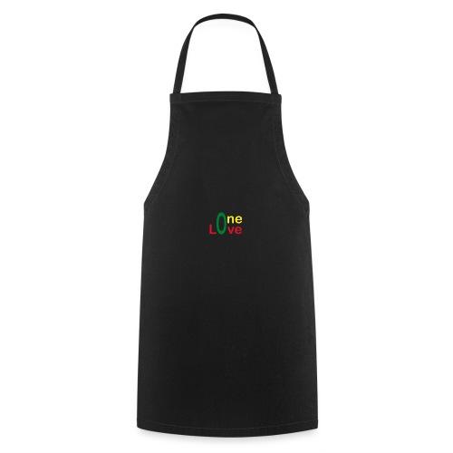 One love 01 Vert jaune rouge - rastafarie - Tablier de cuisine