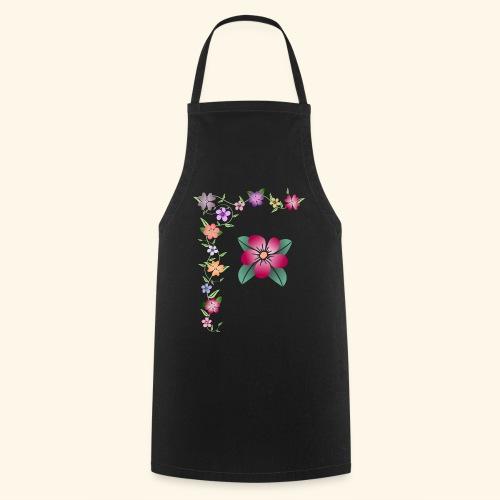 Blumenranke, Blumen, Blüten, floral, blumig, bunt - Kochschürze