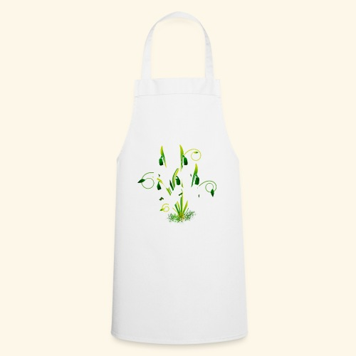 Schneeglöckchen, Blumen, Blüten, floral, Ornamente - Kochschürze