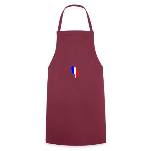 Carte Territoire de Belfort bleu blanc rouge - Tablier de cuisine