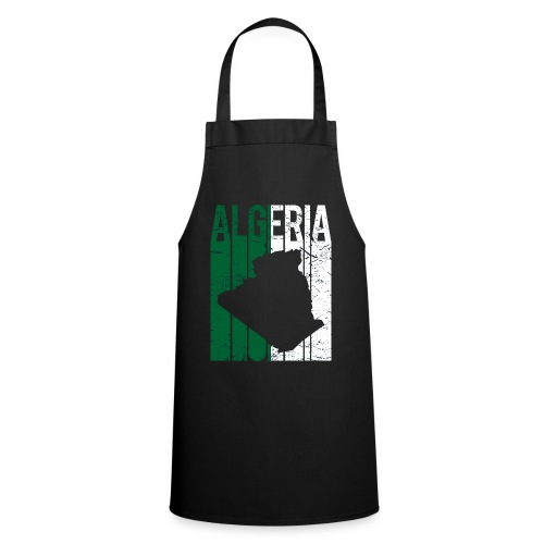 flag of Algeria t-shirt design grunge effect - Grembiule da cucina