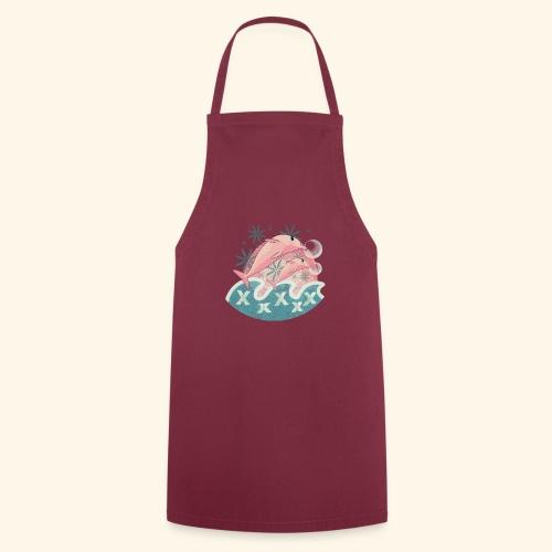 Dauphins rose - Tablier de cuisine