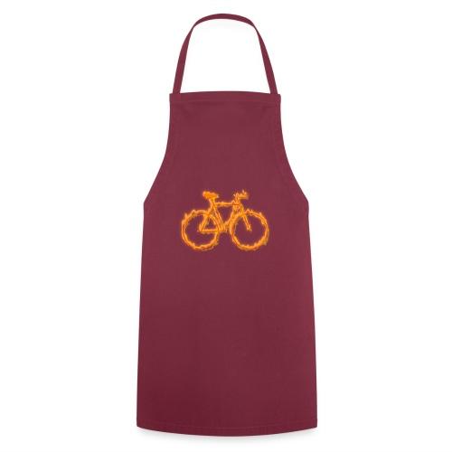 Fahrrad in Flammen - Kochschürze