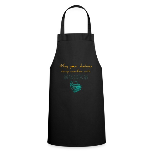 0037 Do the bookshelves always like books? - Cooking Apron