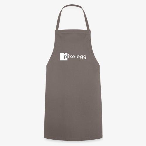 pixelegg Logo Weiss - einfärbbar!!! - Kochschürze